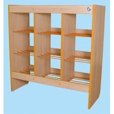 Шкаф-стеллаж для горшков на 12 мест