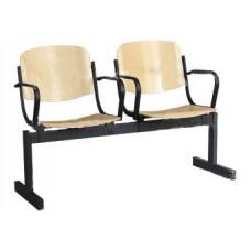 2-местный, не откидывающиеся сиденья, с подлокотниками