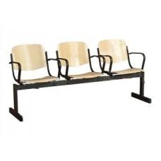 3-местный, не откидывающиеся сиденья, с подлокотниками