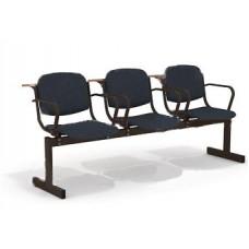 3-местный, не откидывающиеся сиденья, мягкий, с подлокотниками