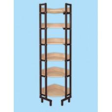 Шкаф-стеллаж угловой односторонний на металлокаркасе