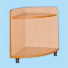 Шкаф-тумба для игрушек и пособий угловая